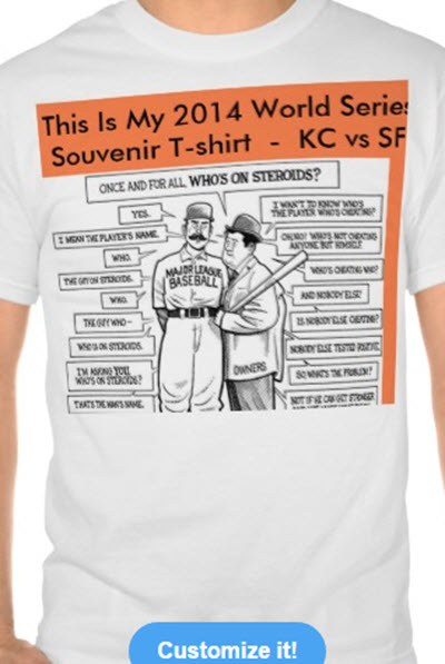 baseball souvenir tshirt world series