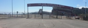 49ers sign and stadium back small