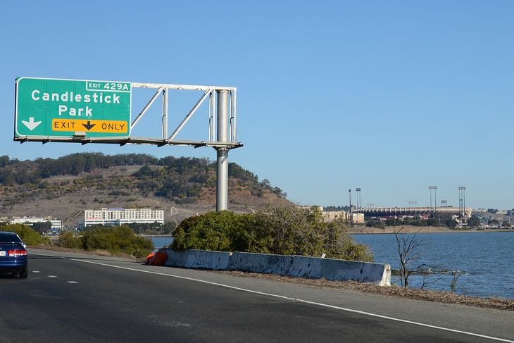 CANDLESTICK EXIT  SIGN