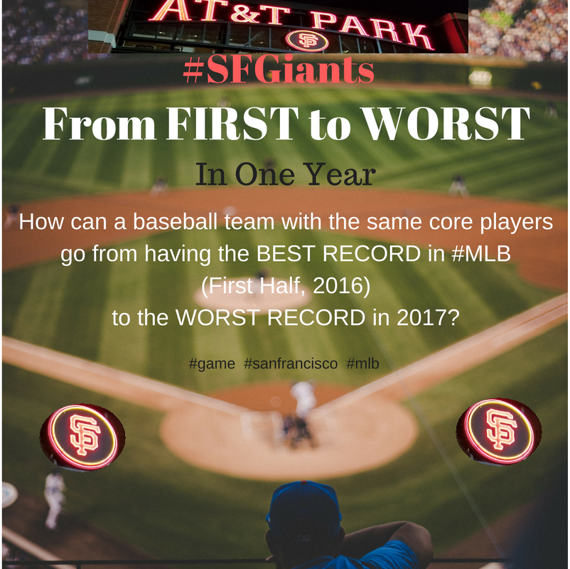 SF GIANTS - from FIRST to WORST
