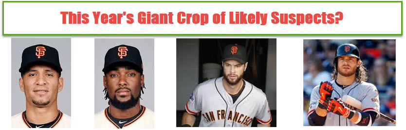 2018 Giants Likely Suspects?